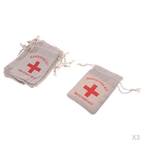 t Jutesack 30pcs Junggeselinnen Party Erste-Hilfe Taschen Musselin Tasche Set ()
