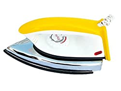 Eashan Power,EPS-75B, 750 watt,Stylo Light weight Electric Dry Iron(Light yellow & White)