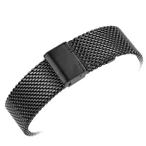 Yisuya Cinturino per orologio classico da 2,2 cm, solida maglia milanese 22...
