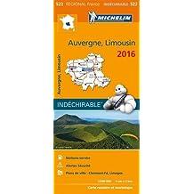 Carte Auvergne, Limousin 2016 Michelin
