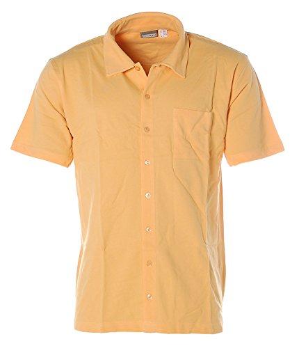 Man´s Sport Herren Kurzarm Poloshirt Pikee durchgehende Knopfleiste Apricot
