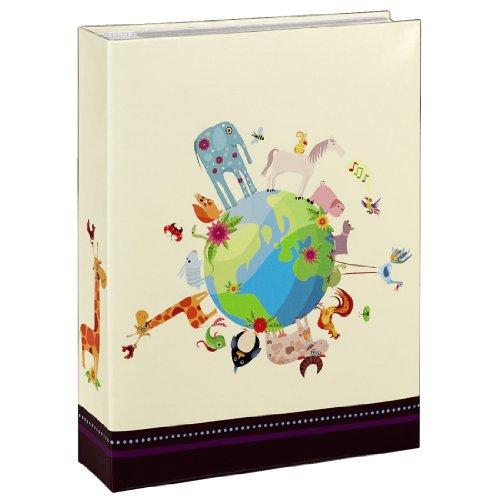 Hama Einsteckalbum Nils (Kinder-Album für 200 Fotos im Format 10 x 15cm, Beschriftungsfeld für Notizen und Selbstgestaltung, Tasche für CDs, Format Album 19 x 25cm, mit Tiermotiv) bunt Lustige Postkarte-buch