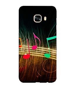 Fuson Designer Back Case Cover for Samsung Galaxy C5 SM-C5000 (Vibrant Music Radiations Rockstar Singer Music Lover)