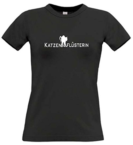 Katze Damen T-Shirt Katzenflüsterin Gr. XL (T-shirt Sign Womens Fit)