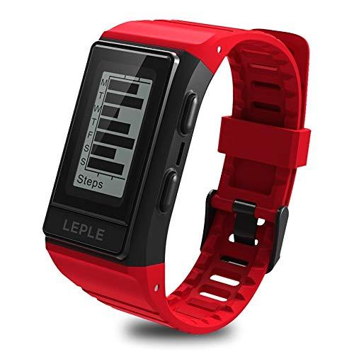 BF-Intelligente UhrAndroid iOS Bluetooth GPS Wasserfest Herzschlagmonitor Blutdruck Messung Touchscreen EKG + PPG Timer Stoppuhr Schrittzähler Anruferinnerung/Verbrannte Kalorien:Rote