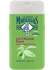 Le Petit Marseillais Douche Crème Extra Doux Lait d'Amande Douce 250 ml Lot de 3