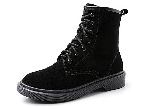 Pizzo smerigliato stivali di Martin Flat black