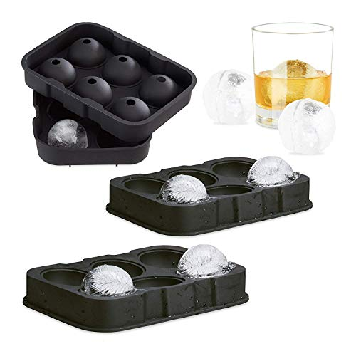Goods & Gadgets Gadgets Ice Balls XL Eiskugelform für, Silikon, Silver, M