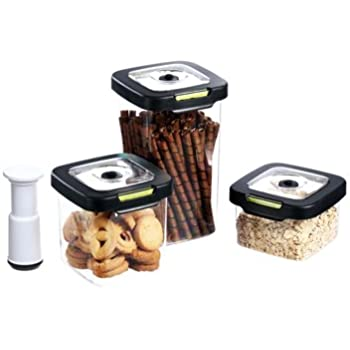 Vacuumsaver SET 3 containers CRYSTAL 2A03