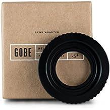 Gobe - Adaptador de lentes de rosca M42 para cuerpo de cámara Nikon de montura F (con cristal óptico)