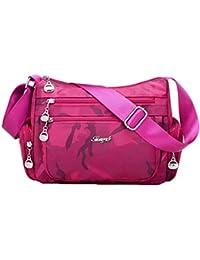 67d924a6e6f42 YX Herren Damen Handtasche Einfach Camouflage Tasche Coole Classic Nylon  Umhängetasche Dauerhaft Praktisch Licht Damen…