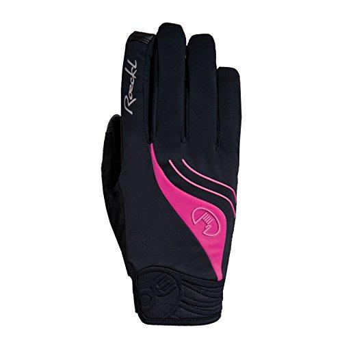 Roeckl Wigan Damen Winter Fahrrad Handschuhe schwarz/pink: Größe: 7