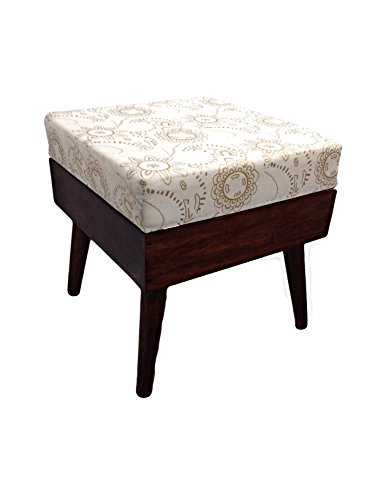 Shivay Arts Sheesham Wood Square Pouffe / Ottoman / Lowseat / Stool