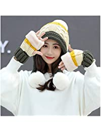 LIXUE Sombrero Mujer Invierno Versión Coreana de The Wild Earmuffs Grueso  Cálido Estudiantes Jóvenes Sombrero de 38a7bea58c8