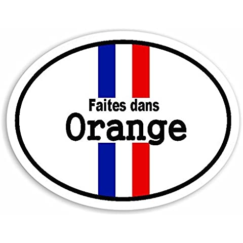 Faites dans Orange - France Flag Auto