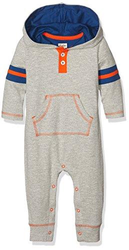 Hatley Baby-Jungen Spieler Athletic Grey Hooded Romper-Infant, Grau-Grau, 86