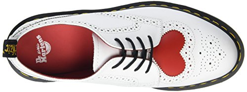 Dr. Martens Joyce Hrt, Scarpe Stringate Donna Bianco (White/heart Red Venice/smooth)