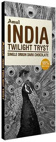 AMUL India Single Origin Dark Chocolate 125 GM. (Pack of 4)