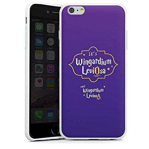 Apple iPhone X Silikon Hülle Case Schutzhülle Wingardium Leviosa Harry Potter Zauberspruch Silikon Case weiß
