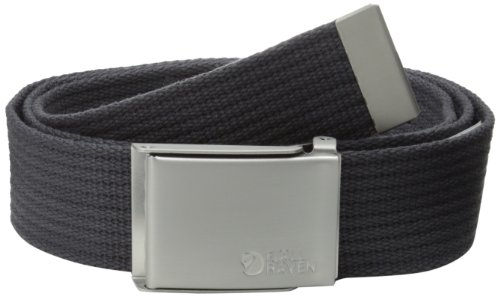 Fjällräven Herren Gürtel Canvas Belt, Dark Grey, One Size, 77029-030
