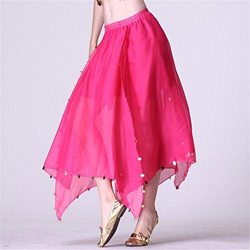 FaithYoo Damen Fashion Kleid Einheitsgröße Dark Pink