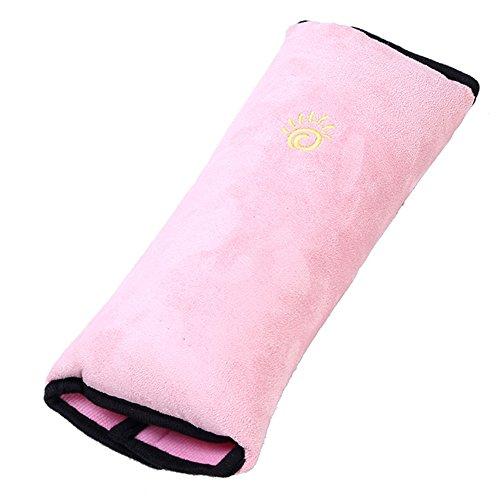 Haodou Auto Sicherheit Gürtel Kissen Schlafkissen Schulterpolster für Kinder Baby Kopf Support Kissen Rosa