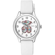 Reloj Tous 900350235 Tartan Kids de Acero con Correa de Silicona Blanca