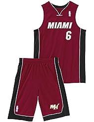 adidas Performance Miami Heat NBA LeBron James niños del baloncesto de Jersey Rojo X22275 , Size:176