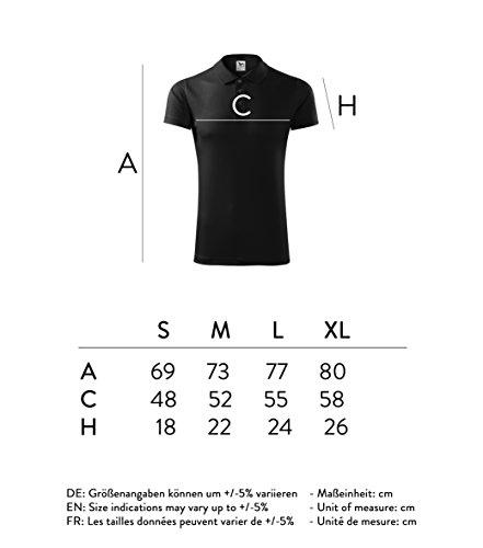 Herren Polo T-Shirt Poloshirt- Super Premium Stoff & Schnitt Schwarz
