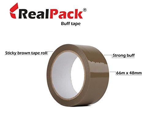 realpackâ –3Rollen 48mm x 66m Packband Klebeband bietet eine robuste und klebrigen Verschluss
