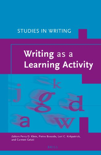 Writing as a Learning Activity (Studies in Writing)