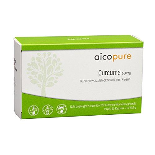 CURCUMA (KURKUMA) 500 mg Kapseln •Curcuma longa L. • reine Qualität • vegan • ohne Zusatzstoffe • Made in Germany (60 Kapseln)