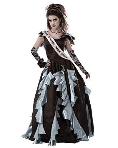 Kostüm Königin Abschlussball - Horror-Shop Zombie Prom Queen - Abschlussball Königin Kostüm S/M