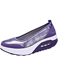 7790898478c0 Overdose-Chaussures Platform Trainers Femme Tennis à Enfiler Pas Cher  Baskets à Talons Plates Soldes