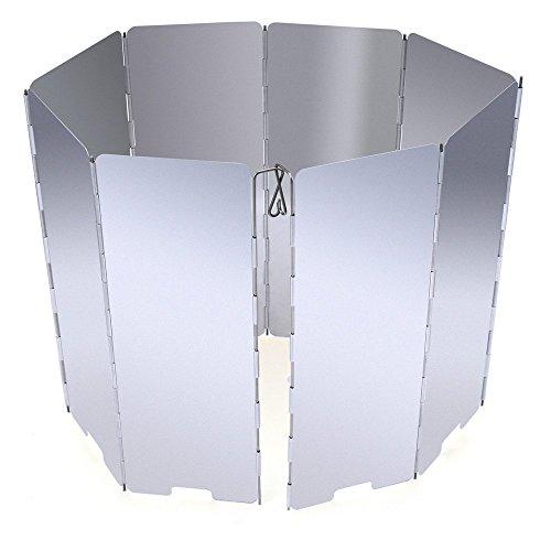 boldion £ š TM £ © 8assiettes 8portable pliable en alliage d'aluminium Extérieur Poêle pare-brise plus rapide de camping Cuisinière sécurité pare-brise économiser de carburant