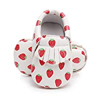 """Bebila Baby Moccasins Printing Tassels Soft Sole Leather First Walkers Toddler Bebe Shoes for Boys and Girls (US 3M/4.13""""/10.5cm, Model-5)"""