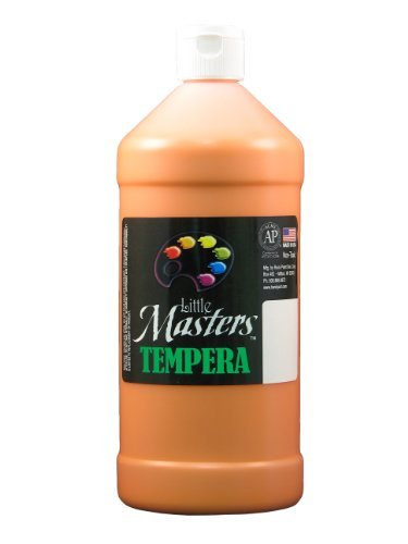 little-masters-by-rock-paint-203-715-tempera-paint-1-orange-32-ounce-by-little-masters-by-rock-paint