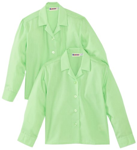 Blue Max Banner - Revere Twin Pack Long Sleeve School, Camicia per bambine e ragazze, verde(Green), XX-Large