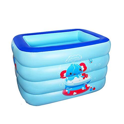 Xingguang Aufblasbarer Swimmingpool der Familie, einfach zu Falten und anzunehmen, Wasserpool, aufblasbarer Ozean-Pool, Swimmingpool der Kinder, Blauer Druck, 140 * 105 * 75cm (Aufblasbare Ozean Kajak)