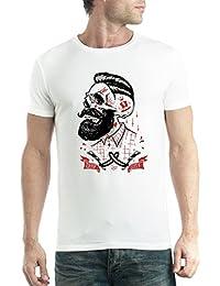 Barbero Cortes profundos Barba Cráneo Hipster Hombre Camiseta ...