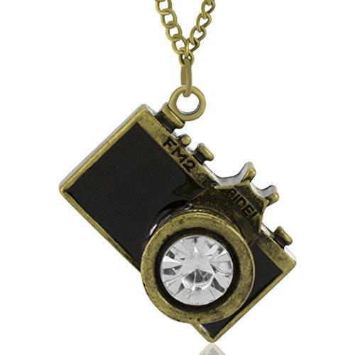 MESE London Collar De Cámara Fotográfica Colgante De Fotografía 'El Colector Del Alma' en Caja de Regalo Elegante