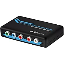 Portta HDMI Convertidor HDMI a YPbPr Component Video Converter para 3D HD FHD UHD PS4 DVD HDTV Blu-ray
