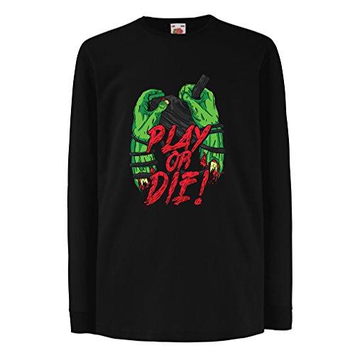 Kinder-T-Shirt mit langen Ärmeln Spielen oder sterben - nur für Spieler! (9-11...