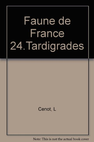 Faune de France 24.Tardigrades