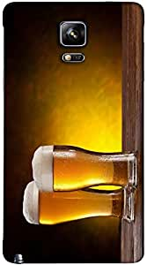 Timpax Protective Hard Back Case Cover With Easy access to all ports Printed Design : Pair of Beer Glass with Beer background.Specifically Design For : Samsung Galaxy Note 4 ( SM-910U )