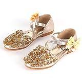 Frühling Herbst Kinder Mädchen Schuhe Bowknot Kinder Prinzessin Sandalen Anti-Skid Glänzende Tanzen Sandalen Kinder Kleid Schuhe - Goldfarben 33