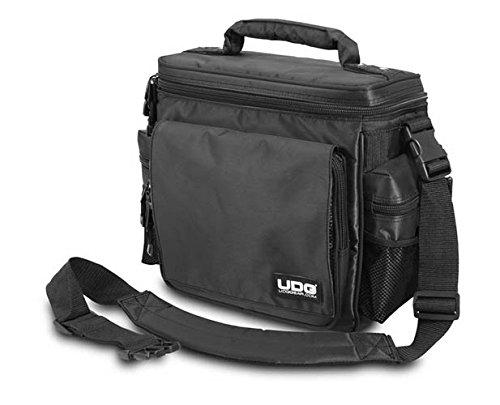 UDG Ultimate SlingBag MK2 Black (U9630) - Borsa per Trasporto Vinili, Controller, Interfaccia Audio, Cuffia e Cavi, Nero