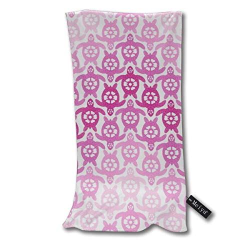 Desing shop Turtles On The Beach (Pinks, Rotated)_1848 Hand Towels Dishcloth Floral Linen Super Soft Extra Absorbent for Bath,Spa and Gym 12 X 27.5 inch Floral Baby Doll Tee