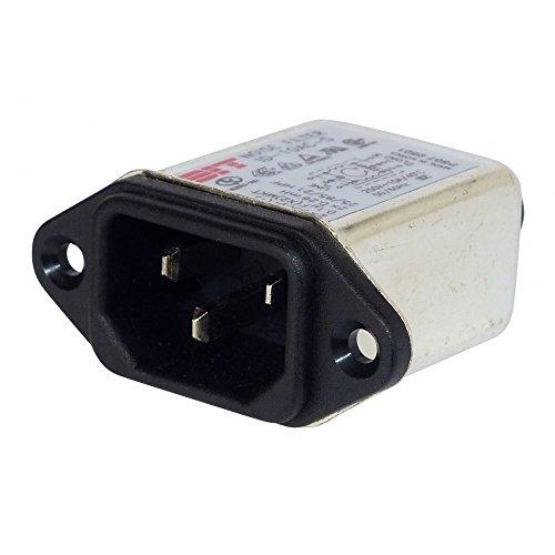 Netzfilter mit Kaltgerätebuchse 250 V/AC 10A Einbau Noisefilter für Netzspannung 1 Stück -