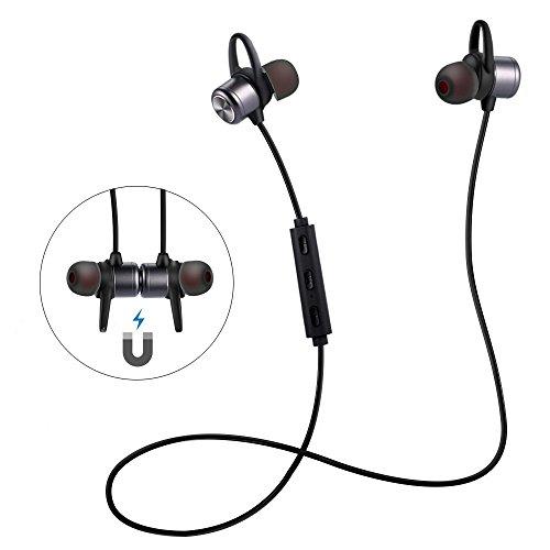 ER-ESTAVEL Bluetooth Kopfhörer in Ear Wireless Sportkopfhörer mit Mikrofron Magnetisches Headset für iPhone, Samsung, Android Handy und Weitere Geräte -Joggen,Running